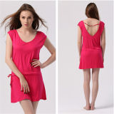 2014 New Fashion V-Neck Low Back Casual Beach Dress