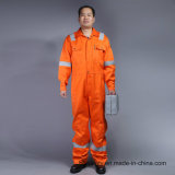 Flame Retardant 88%Cotton 12%Nylon Safety Coverall Workwear with Reflective Tape (BLY1014)