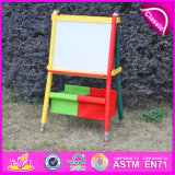 2015 Multi-Function Magnetic Kids Drawing Board, Wooden Easel with Storage Box, High Quality Pencil Design Painting Easel W12b047