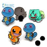 Wholesale No Minimum Cheap Custom Metal Logo Anime Badge in Stock Poke Brooch Pins Pop Soft Hard Enamel Cute Turtle Dragon Cartoon Pokemon Lapel Pin Badge
