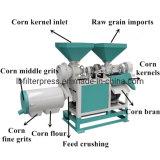 300 Kg/H High Speed Making Maize Hulling Fine Grits Corn Flour Mill Sheller Machine