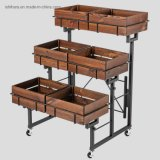 Wooden Crate Display Stand Moveable