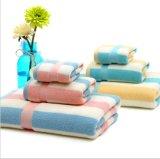 OEM Produce Custom Checked Jacquard Cotton Terry Bath Towel Beach Towel