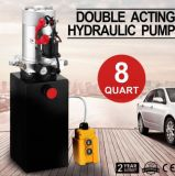 Single Acting Hydraulic Pump 12V Dump Trailer 8 Quart Metal Reservoir for Dump Trailer