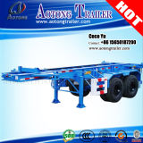 2 Axles ISO 40′container Carrier Skeletal Semi Trailer for Sale