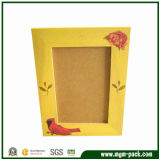 Handmade Lovely Yellow Patterned Wooden Picture Frame