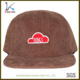 Custom Children Embroidery Corduroy 5 Panel Cap Hat