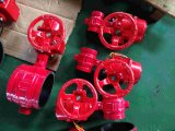 Groove End Connection Butterfly Valve with Lever/ Gear