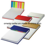 Hard Cover Sticky Flag Jotter Pad (OMD13053)