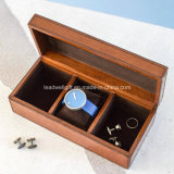 Handcrafted Small Leather Jewelry Box Storage Case Watch Case