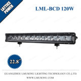 New 22.8 Inch 120W Offroad Auto Car Auxiliary Single Row Straight LED Bar Light with DRL Spot Flood Combo Beam