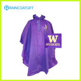 Advertising Reusable Adult PVC Rain Poncho with Logo Printing