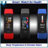 High Quality Health Wristband, Sport Wristband in TPU, Body Temperature & Oximeter Detect Smart Watch, Fitness Trackers