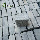 Natural G654 Granite Meshed Paving Stone Black Cube Stone 10X10X5 for Driveway