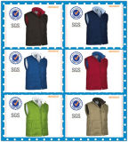 Reversible Windproof, Waterproof and Breathable Woven Quilted Vest for Men