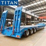 Titan 3/4 Axles 60/80/100 Ton Heavy Duty Excavator Transport Gooseneck Low Bed Loader Drop Deck Lowbed Truck Semi Trailer for Sale Price