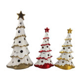 Ceramic Plating Christmas Tree with LED Light for Home Decoration