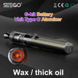Seego Latest Model E Cigarette Vhit Type C Kit Wax Vaporizer Clearomizer EGO