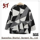 Lady Fashion Wool Jacket Fleece Down Coat