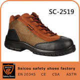 New Stylish Leather Men High Cut Safety Work Shoes Sc-2519