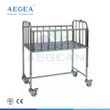AG-CB005 Hospital Moving Stainless Steel Baby Cot
