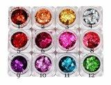 Nail Art, Nail Accessories, Nail Beauty, Size-Mixed Hexagonal Striped Dazzling