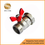 Pn 16 Brass Gas Ball Valve with Butterfly Handle