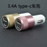 USB Type-C Car Charger 2 Ports Mini USB Car Charger