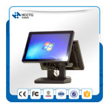 "15"" LCD Desktop Dual Screen Touch POS System (HZQ-9080D)"