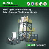 Three Layer Co-Extrusion Traction Rotatory Film Blowing Machine