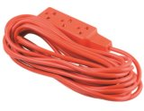 Mexico Style 3 Outlets Utility Extension Cord, Power Cord