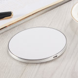 2018 Top Super Slim Aluminum-Alloy Wireless Fast Charger Metal Pad OEM/ODM Manufacturer