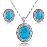 Fashion Jewelry Earring and Necklace Set Turquoise Jewelry