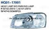 Head Lamp Assembly Fits Hyundai Accent 2000-2002. China Best! Factory Direct!