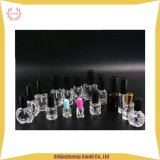 Clear Glass Nail Polish Bottle with Plastic Cap and Brush