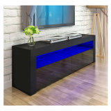 New Style High Gloss Wood Design Storage LED TV Stand