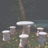Natural Marble Table Sets for Garden Decoration T-3605