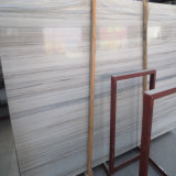 Polished Natural Crystal Wooden White Marble Slabs