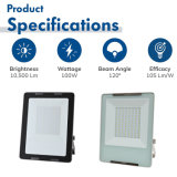 ISO 9001 2015 Factory Direct, IP65, 4kv Surge, 100W Outdoor Lighting LED Flood Light with CE SAA Bis UL ETL Dlc Inmetro Certificate for Garden