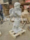 Marble Little Angel Statues Stone Cherub Sculpture Price Mfsg-65