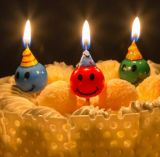 Color Smiling Face Candle Cake Decorations Birthday Cake Party Cake Decoration