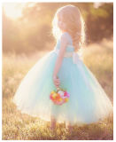 OEM Couture Wathet Lovely Service Price Princess Dress Wedding Dress [Can Be Custom Color]