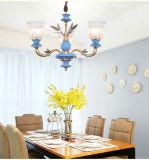 Franch Orginal Brass and Porcelain Pendant Lamp