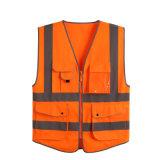 100% Cotton Orange Lime High Visible Mesh Hi-Vis Vest