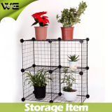 DIY Multifunction Space Saving Wrought Iron Wire Storage Rack
