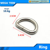 Fashion D Ring Leather Bag D Ring with Nickel Color