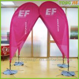Customed Fiberglass Pole Teardrop Beach Feather Flying Flag