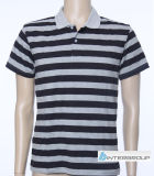 Men′s Soft Handfeel Stripe Polo T-Shirt (BG-M101)