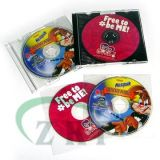 CD DVD Replication with Plastic Case Pakcaging Service