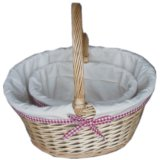Wicker Willow Picnic Gift Storage Fruit Baskets